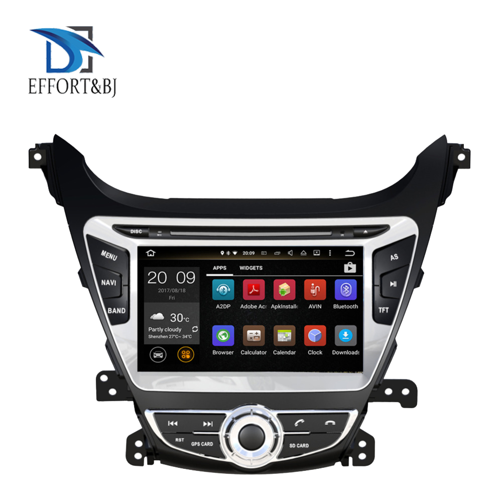 Android 9.0 Octa Core 4GB RAM Car Auto Radio Stereo Multimedia Player For HYUNDAI ELANTRA/AVANTE 2014-2015 GPS Navigation WIFI image