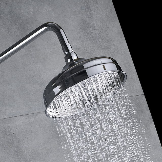 Round Rainfall 8 inch Shower Head Bathroom Waterfall Shower Head Chrome Finish Bsh048