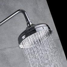Yuvarlak Yağış 8 inç Duş Başlığı Banyo Şelale Duş Başlığı Krom Kaplama Bsh048