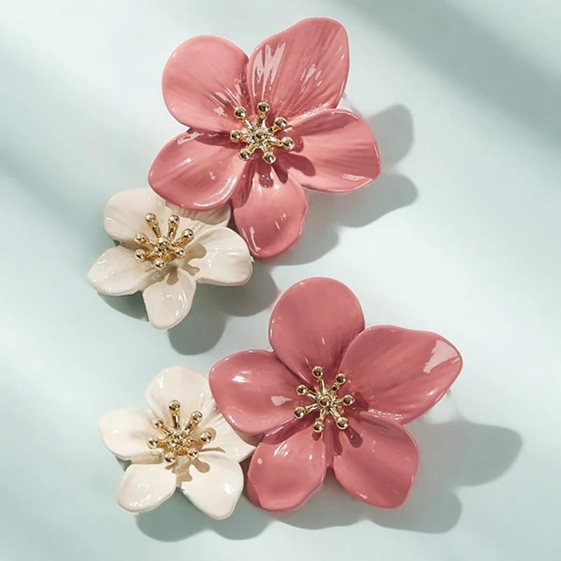 Boho Cute Flower Earrings For Women Korean Jewelry Kids Girls Gifts Fashion Stud Earring Boucles D'oreilles Aretes De Mujer 2020