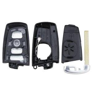 Image 3 - Guscio chiave intelligente di ricambio a 4 pulsanti per BMW CAS4 F 3 5 7 serie E90 E92 E93 X5 F10 F20 F30 F40 custodia chiave per auto remota