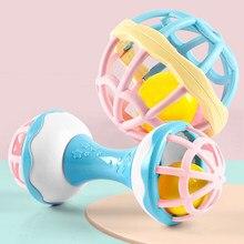 Grappige Baby Rammelaar Mobiles Speelgoed 0-12 Maanden Zachte Bijtring Hand Bell Educatief Speelgoed Zuigeling Intelligentie Grijpen Pasgeboren Speelgoed