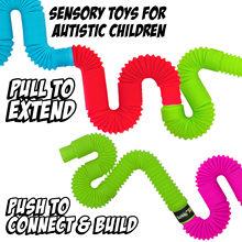 Soufflet télescopique pour enfant, jouet de décompression, Tube extensible, coloré, amusant, anti-stress