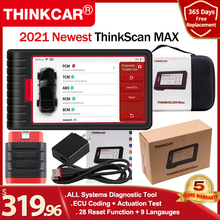 ThinkCar THINKSCAN MAX obd2 code reader scanner Full System with VIN Scan /ECU Coding/A/F Reset auto diagnostic tools PK CRP909