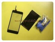 Wyieno עבור Dexp Ixion ES550 נשמת 3 פרו LCD תצוגת מסך מגע מסך Digitizer זכוכית חיישן פנל שחור + מעקב