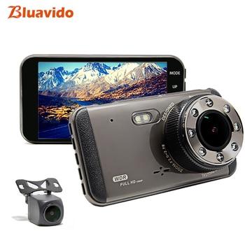 "Bluavido 4""IPS Full HD 1080P Car DVR WDR Night Vision Dual Lens Auto Video Recorder registrar Dash Cam 170 Degree Motion Detect"