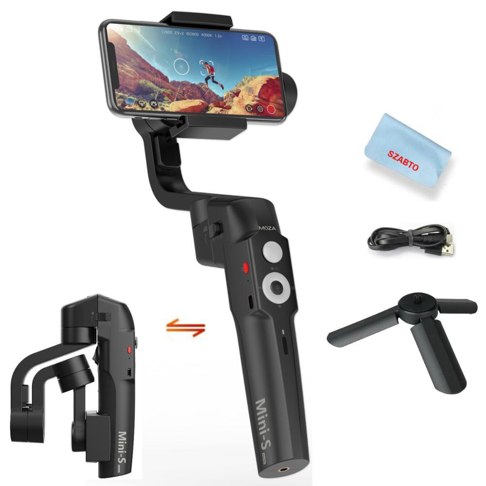 Stabilisateur de cardan 3 axes pliable Moza Mini S pour Smartphone iPhone X 8 7 Plus Samsung S8 260g charge utile hyper-lapse