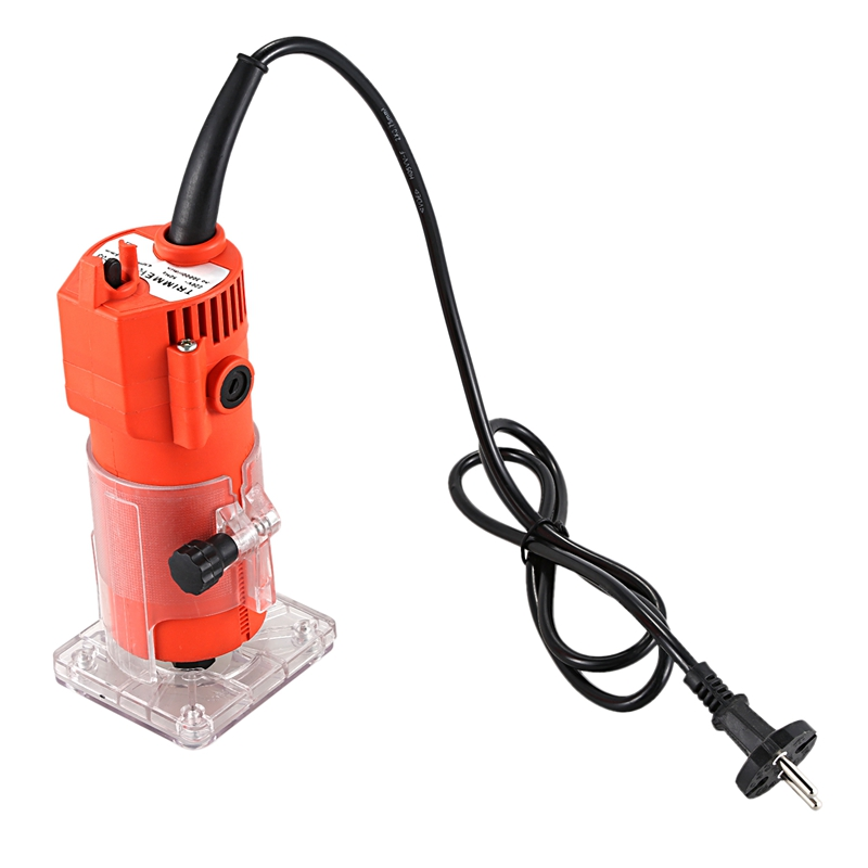 Router Trimmer 600w 30000rpm Durable Small Copper Motor Carving Machine 6mm Electric Woodworking Trimmer Power Tool Wood
