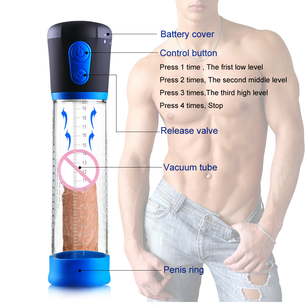 Electric Penis Pump,Strong Automatic Penis Enlargement Vacuum Pump Erection Penis enlarger Penis Extender Sex Toy For Men Male