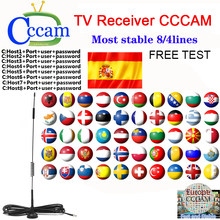 Ccam receiver 2 cable lines for newcamd satellite HD AV GTMEDIA v8 v7s v9 super compatible decoders