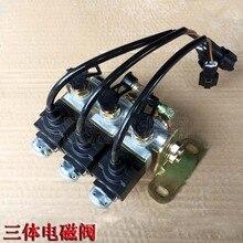 Xinyuan 65-8 75-8-9 wheel excavator parts hydraulic three-body solenoid valve brake balance cylinder solenoid valve стоимость