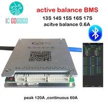 Active Balance Battery Protection Board Bluetooth BMS 13S 14S 15S 16S 17S 20S 120A RS485 GPS APP Lifepo4 li ion LTO JK 48V 60V