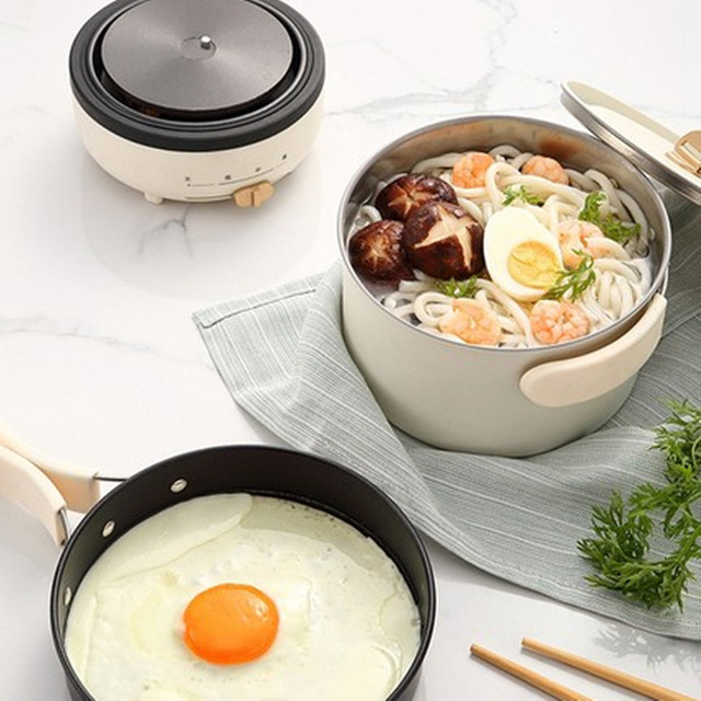 220V 2 Layers Electric Multi Cooker Portable Electric Hot Pot Travel Pot With 1 Stainless Steel Inner And 1 Non-stick Inner 3