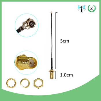 500 pieces lot 50cm Cord UFL to RP SMA Connector Antenna WiFi Pigtail Cable IPX to RP-SMA female to IPX 21cm 1