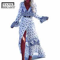 Print Long Beach Dress Beach Coverups for Women Pareo de Plage Swimsuit Cover up Beach Sarongs Swimwear Kaftan Beach Beachwear