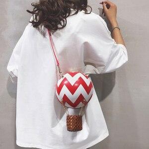 Image 4 - Leuke Luchtballon Ontwerp Kleur Gestreepte Mode Vrouwen Schoudertas Tote Crossbody Bag Dames Portemonnees En Handtassen Tote Bag