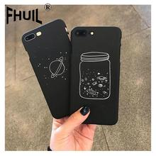 Phone Case For iPhone 6 6s 7 8 Plus X XR XS Max Cosmic starry sky Pattern Retro Case Frosted Acrylic PC For iPhone X Phone Cover qcy value package qq800 mini portable bluetooth speaker support tf card usb aux and qy11 sports wireless earphones headphones%2