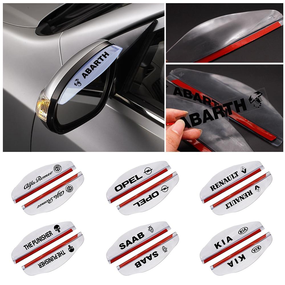 2pcs/lot Universal PVC Car Rearview Mirror Rain Shade Rainproof Blades For LADA Mitsubishi BMW Audi Ford Nissan Toyota Honda Kia