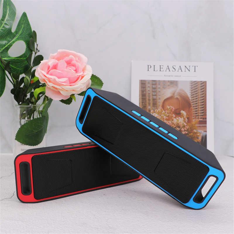 Głośnik wzmacniacz bluetooth AUX TF karta U wejście dysku muzyka bas dźwięk z mikrofonem 1000mAh 6W moda prezent dla telefonu dzieci