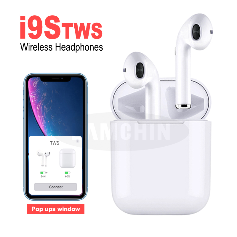 I9S TWS Wireless  Earphone Pods Bluetooth 5.0 Stereo Earbuds In-Ear Sport Headset Dual Earphones With Charging Box For Apple