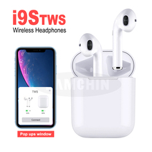 I9S TWS Wireless  Earphone Pods Bluetooth 5.0 Stereo Earbuds In-Ear Sport Headset Dual Earphones With Charging Box For Apple awei t6c tws bluetooth earphone wireless earbuds sport stereo earphones dual microphone headset with charging case for phones