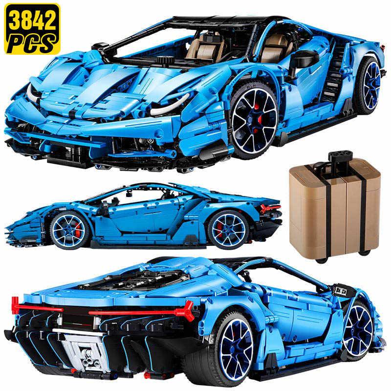 Technic Lamborghini Mad Kuh MOC Geschwindigkeit Champions Designer Baustein Fahrzeug Kit Ziegel Kid Spielzeug Geschenke für Erwachsene