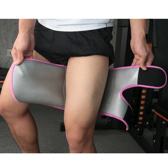 1Pcs Leg Shaper Sweat Thigh Trimmers Calories off Warmer Slender Slimming Legs Fat Thermo Compress Belt for Thigh Trimmers 4
