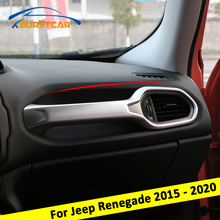 Xburstcar Car Styling ABS Chrome Car Handrail Frame Panel Cover Trim Stickers for Jeep Renegade LHD 2015   2020 Accessories