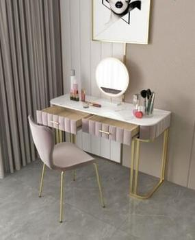 Light luxury European style dressing table bedroom modern minimalist high-end net red ins style dressing table Nordic storage al northern europe light luxury style dressing table bedroom modern simple dressing table small family european style dressing tabl