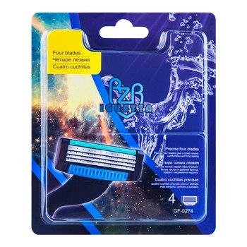 Сменные картриджи для бритья RZR Iguetta GF-0274, 4 шт. 1