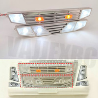 Chrome Grill W / LED Set for Tamiya 1/14 Scale Remote Control Truck Volvo FH16 Globetrotter 750