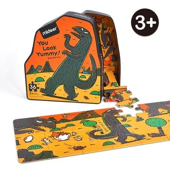 MiDeer-Dinosaur-Puzzle-36PCS-Creative-Cartoon-Puzzle-3-Children-Paper-Jigsaw-Puzzle-Unisex-Educational-Games-Irregular