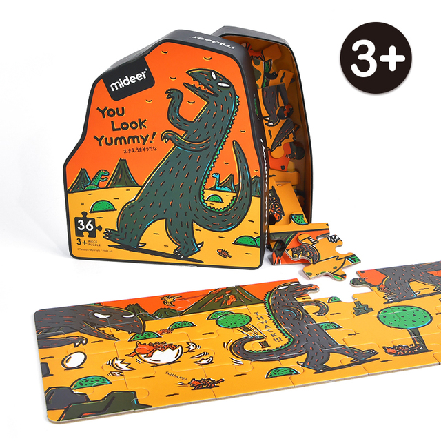 MiDeer-Dinosaur-Puzzle-36PCS-Creative-Cartoon-Puzzle-3-Children-Paper-Jigsaw-Puzzle-Unisex-Educational-Games-Irregular