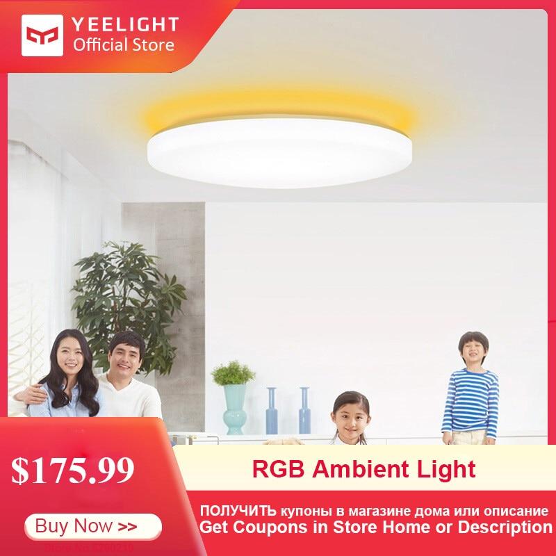Yeelight jiaoyue 650 led inteligente ceil luz wifi/bluetooth/app controle inteligente em torno de luz de teto ambiente 200-240 v 50 w