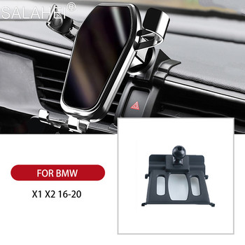 Car Mobile Phone Holder For BMW X1 F48 / X2 F39 2016 2017 2018 2019 2020 GPS Navigation 360 Degree Rotation Auto Phone Holder image