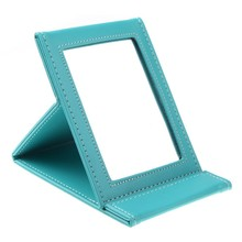 Multi-functional foldable portable cosmetic makeup mirror for travel(blue)(China)