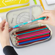 Большой милый чехол карандаш коробка для ручек сумки на молнии