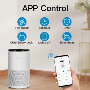 Умный очиститель воздуха Proscenic A8 для дома с фильтром H13 HEPA, очиститель для аллергий и домашних животных, курильщиков, пыльцы, пыли