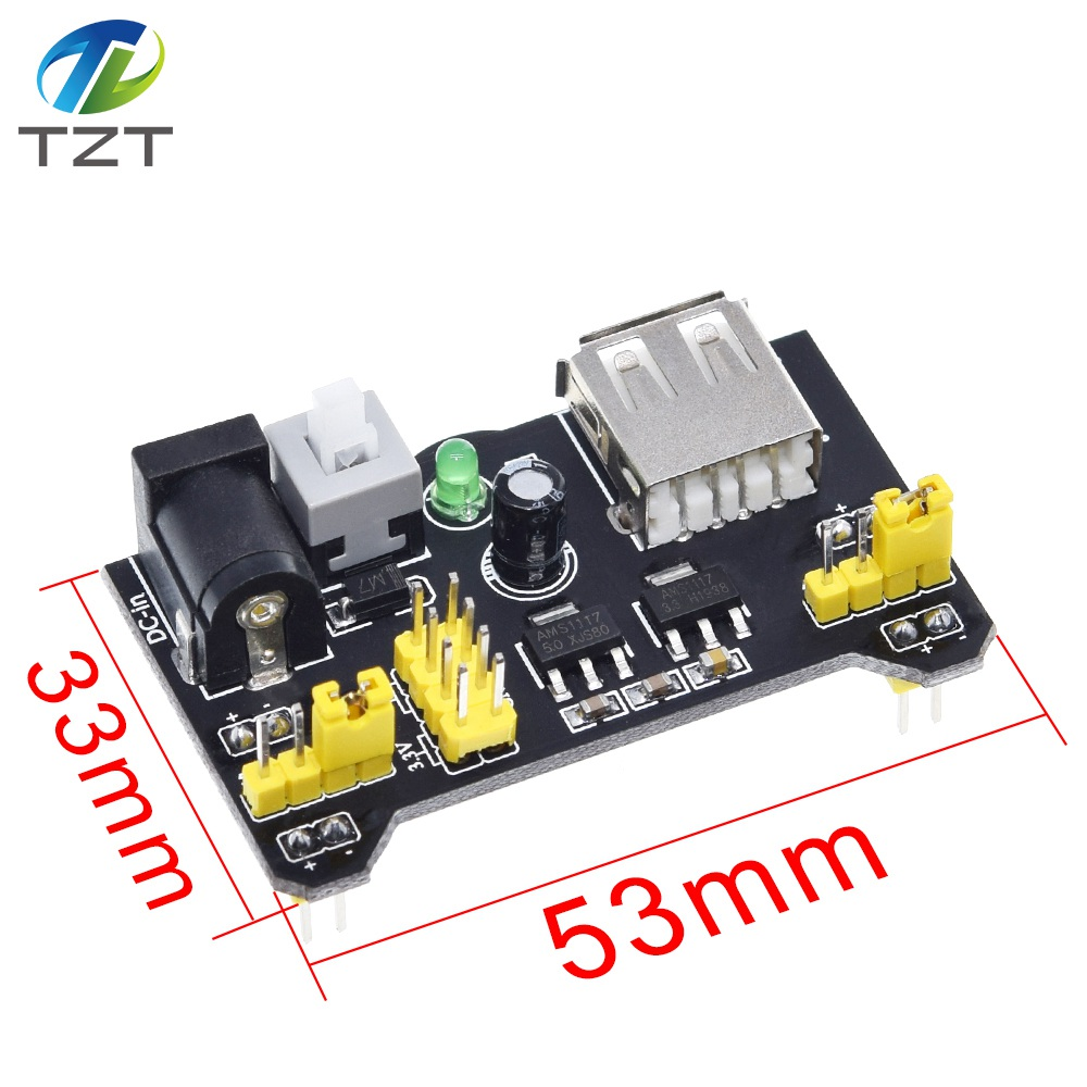 Image 5 - TZT MB102 Breadboard Power Module+MB 102 830 Points Solderless Prototype Bread Board kit +65 Flexible Jumper Wires-in Integrated Circuits from Electronic Components & Supplies