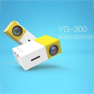 Image 1 - YG 300แบบพกพาMini Projector1080P J9 Mini Homeโปรเจคเตอร์สนับสนุน1080P AV USB SDการ์ดUSBแบบพกพาBeamer