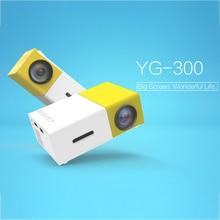 YG 300ポータブルミニProjector1080P J9ミニホームプロジェクターサポート1080 1080pのav usb sdカードusbポータブルポケットプロジェクター