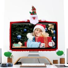 Рождественский чехол с изображением Санта-Клауса, оленя, снеговика, рождественского компьютера