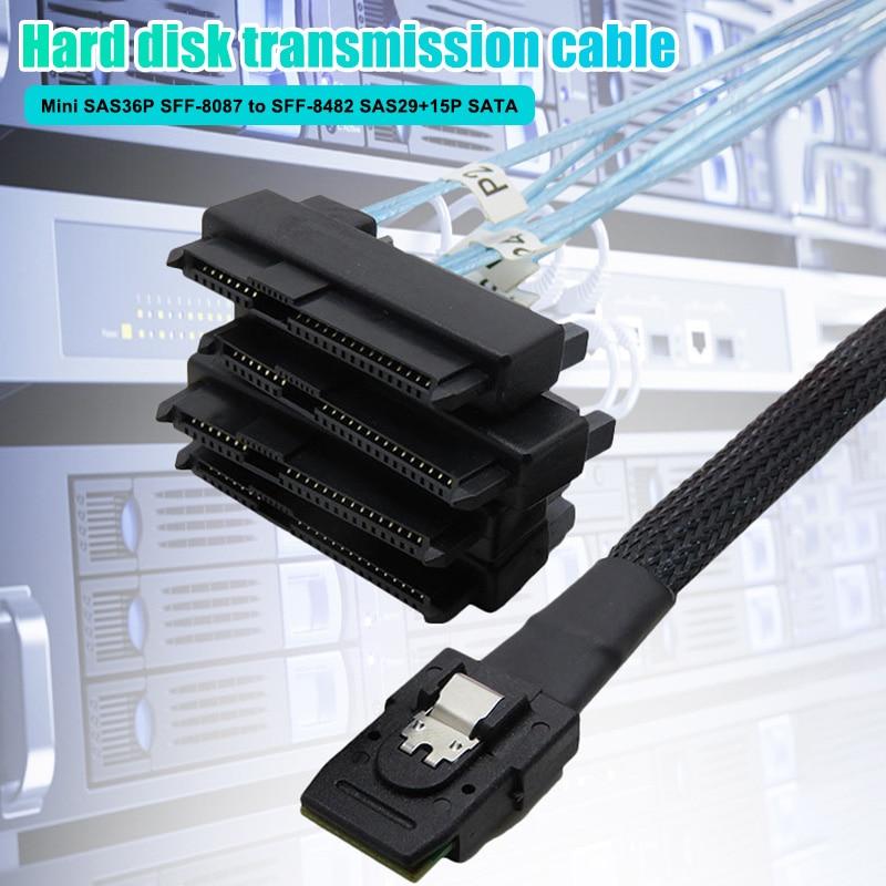 Mini SAS 36P SFF-8087 To SFF-8482 SAS29 Connectors SATA Transmission Cable DQ-Drop
