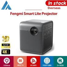 Projektor Xiaomi Fengmi Smart Lite 3D Full HD 1080P 4K 550Ansi DLP Android 2GB 16GB MIUI TV HDMI bluetooth WIFI Inteligentny zestaw kina domowego Czterokierunkowy Trapezoidalny dysk 1 2 1U LED 5000 1 HDMI USB tanie tanio Instrukcja Korekta Auto Korekty CN (pochodzenie) Mini 4 3 16 9 X 1 2 550 ANSI 1920x1080 dpi 4001 1-5000 1 Domu Rzucanie