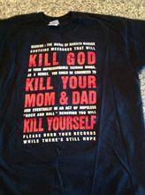 Rare Marilyn Manson Black T Shirt Kill God All Size. Men Clothing Plus Size S M L Xl Xxl