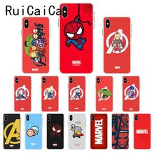 Ruicaica Marvel Avengers Widow Hulk Iron Man Spider man film Phone Case for iPhone X XS MAX  6 6s 7 7plus 8 8Plus 5 5S SE XR 10 ruicaica marvel avengers widow hulk iron man spider man film phone case for iphone x xs max 6 6s 7 7plus 8 8plus 5 5s se xr 10