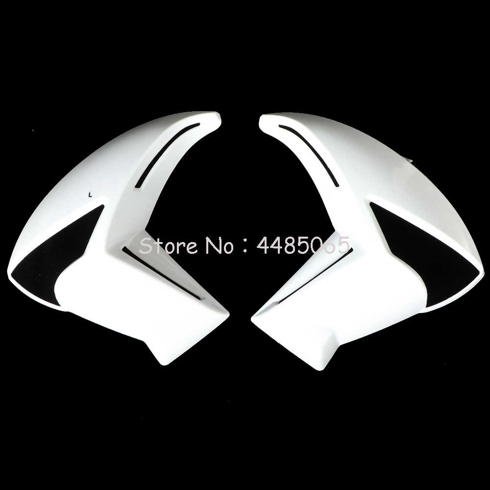ABS Right Left Panel Side Radiator Covers Fairing Compression Molded For Kawasaki ER6N ER 6N ER-6N 2009-2011