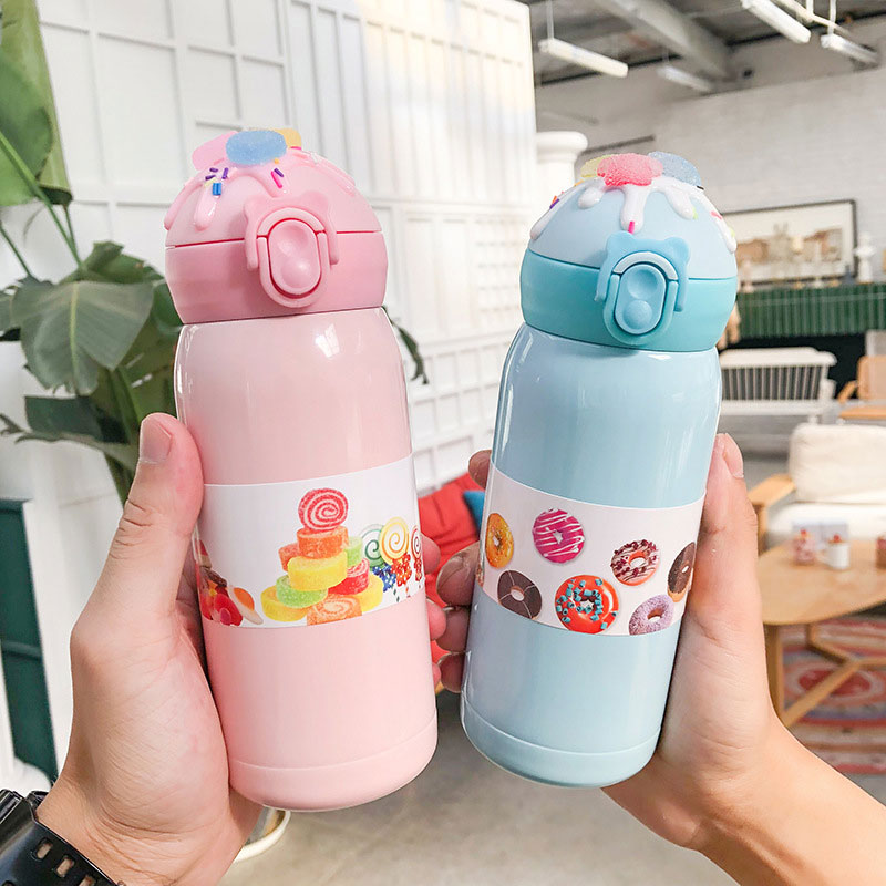 360ML Thermo Mug Thermos Coffee Cup Stainles Steel Thermal Bottle Portable Rope Vacuum Flask Cute Tea Water Bottle Tour Bpa-free