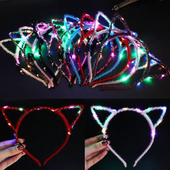 Glowing Colorful Butterfly Headband Light Glow In The Dark Kids Toys Flash Toy LED Stars Shine In The Dark Party Kid Toys Gift E glow in the dark new kids toy 1pcs flash elastic massage ball glowing toys flash led lights stars shine in the dark toys child e