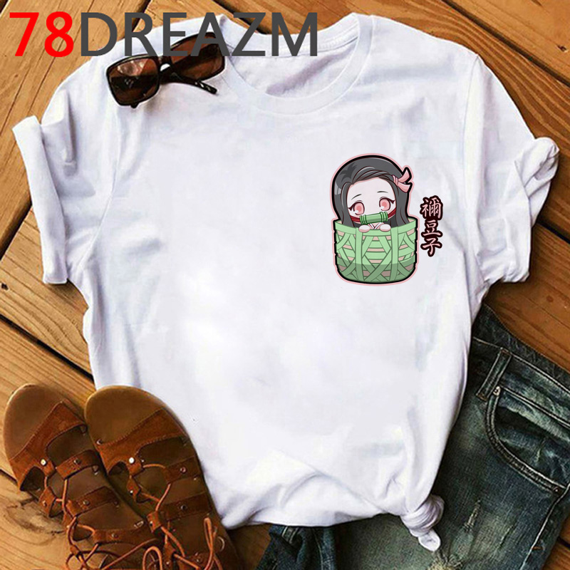 Demon Slayer T Shirt Men Hip Hop 2020 Japanese Anime Kimetsu No Yaiba T-shirt Kawaii Cartoon Tanjiro Kamado  Graphic Tees Male